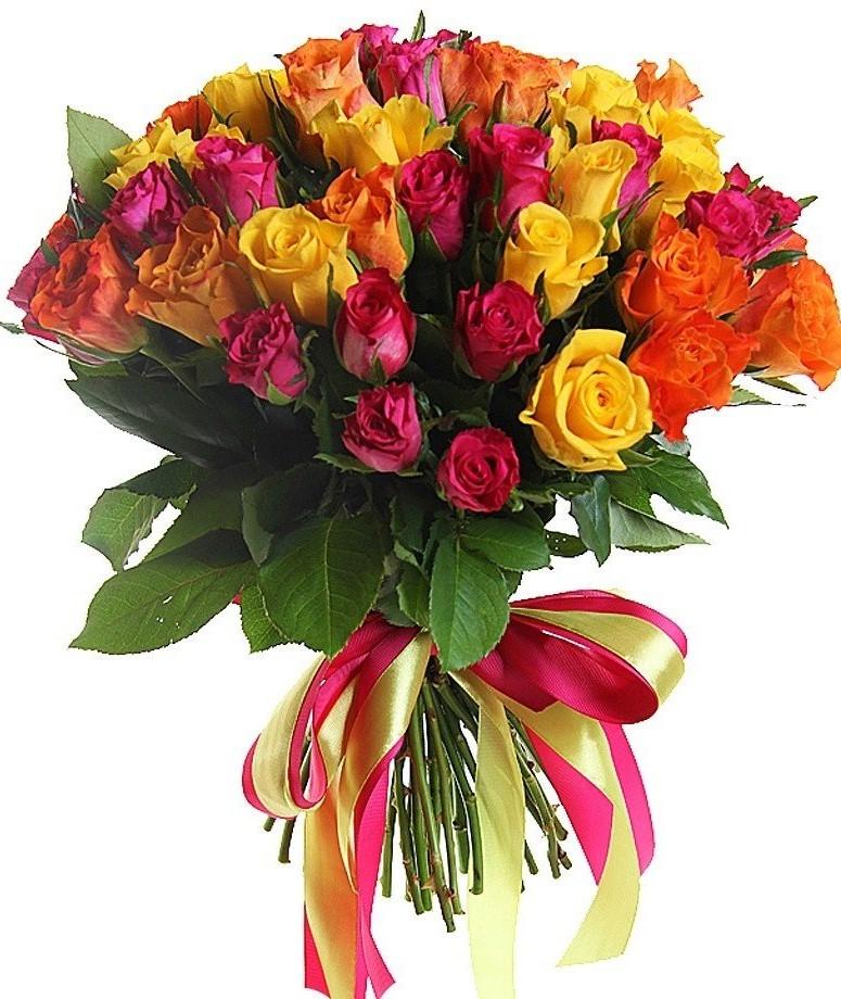 Цветы дании, букет микс из роз