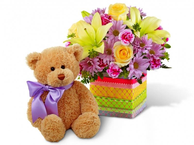 Открытки цветов для детей
